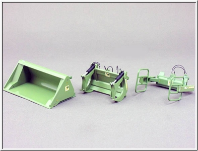Wiking 077383 Loader Tools Set A Bressel & Lade green
