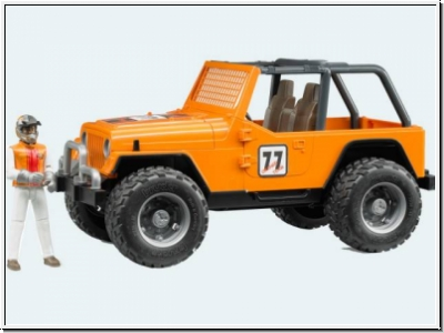 BRUDER Jeep Cross Country Racer orange mit Rennfahrer