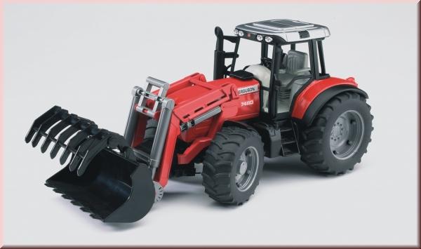 Bruder massey ferguson traktor 7480 mit frontlader gut und günstig 24