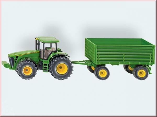 siku john deere traktor mit anh nger gut und g nstig 24. Black Bedroom Furniture Sets. Home Design Ideas