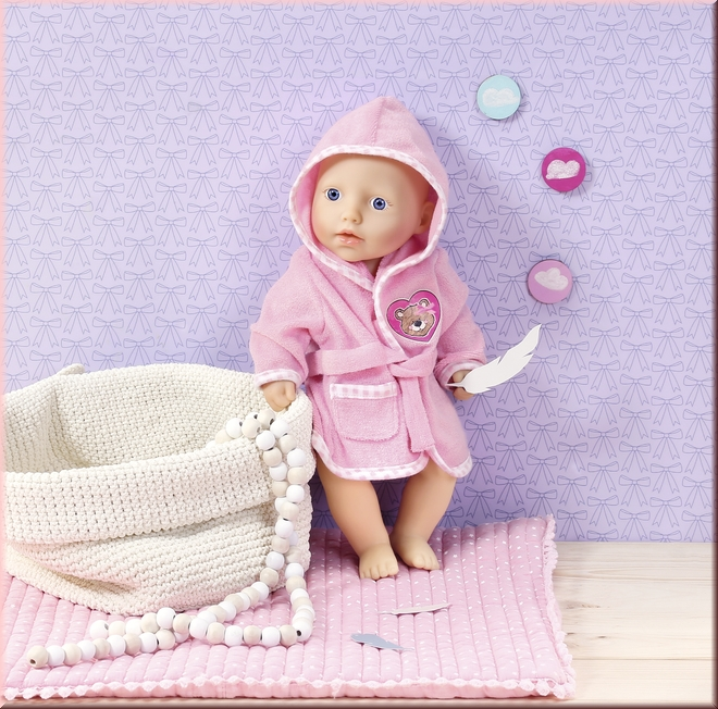 Zapf Dolly Moda Bademantel 30-36 cm Babypuppen & Zubehör