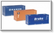 HERPA Bulkcontainer-Set 20ft., 3 Stück