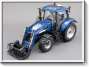 Universal Hobbies New Holland T6.175 Blue Power mit Frontlader